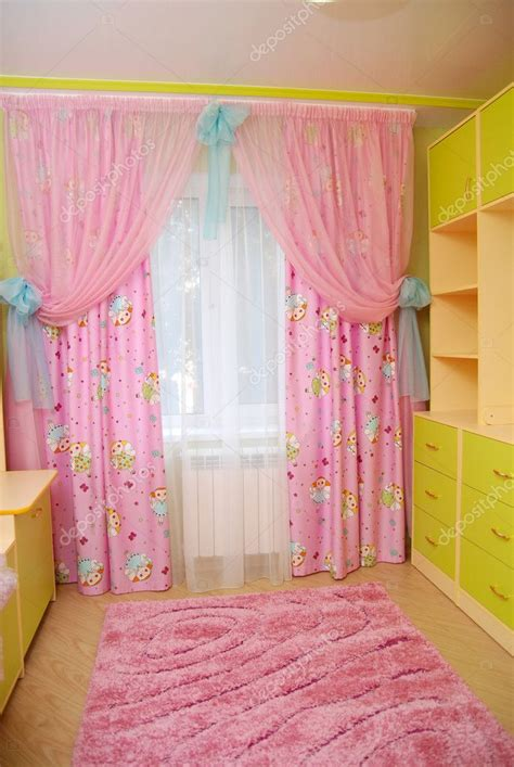 pink curtains nursery pink curtains in a nursery stock photo 169 kanzefar 10773716