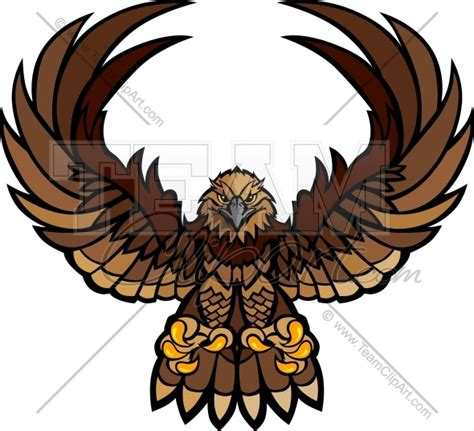 Hawk Mascot Clipart hawk wings and claws mascot vector clipart image team