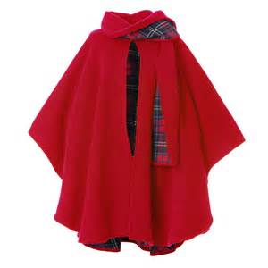 Home Interiors And Gifts Company peter james ladies wool and cashmere scarf cape red check