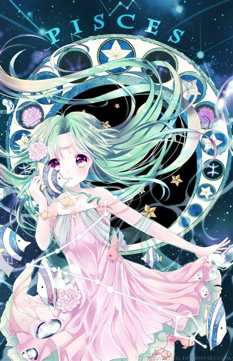 Anime Zodiac Signs by Pisces Zodiacal Constellations By Ayasal On Deviantart