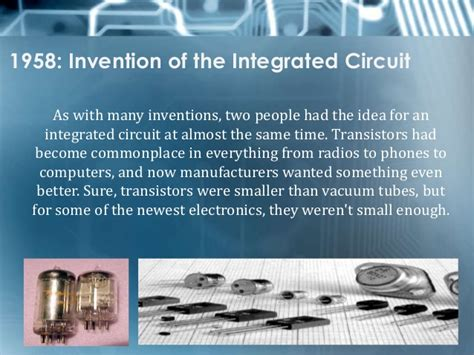 the integrated circuit has revolutionized our electronics technology because it time that integrated circuits were invented 28 images third generation computers technology