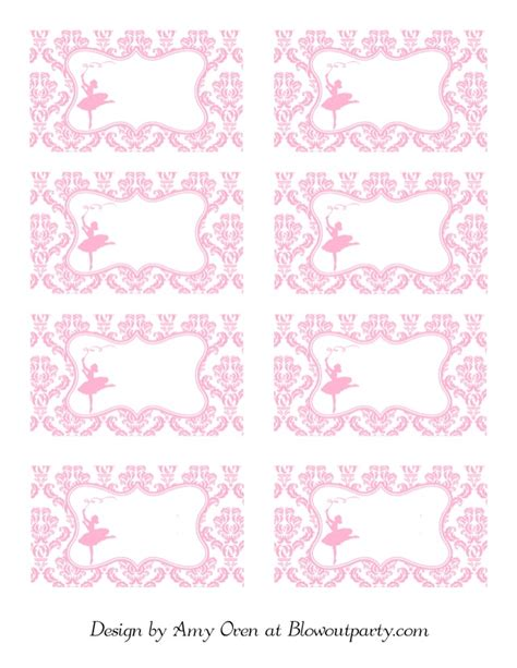printable dance tags ballerina party free printable nametags