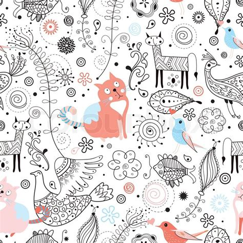 pattern background sketch bright funny colored with a rain cloud on a blue