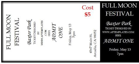 ticket layout template free 40 free editable raffle movie ticket templates