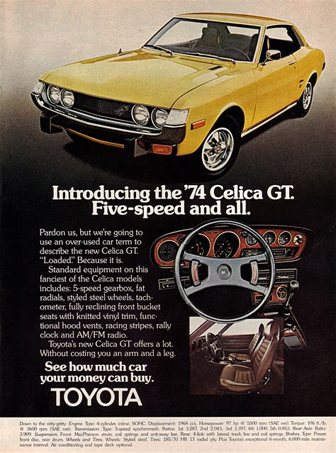 vintage toyota ad 1974 toyota celica vintage magazine ad the family deal blog
