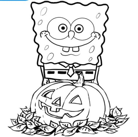 spongebob coloring page pdf spongebob halloween coloring pages az coloring pages