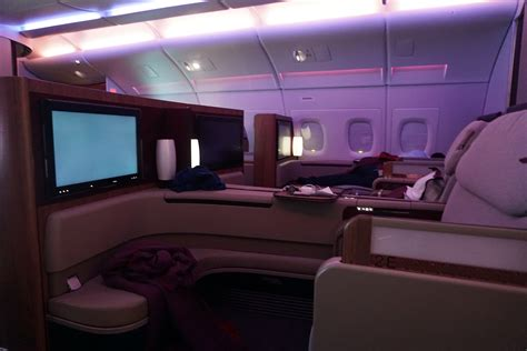 Qatar A380 Cabin by Review Qatar Airways Class To Doha