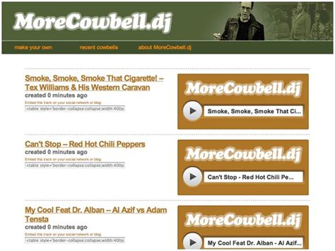 more cowbell mp3 more cowbell add christopher walken cowbell to any mp3