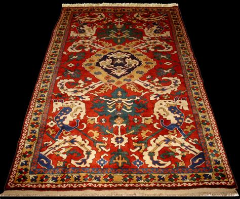 azerbaijan rugs historical karabagh animal combat rug khatai design rewoven by antique rugs of the future project