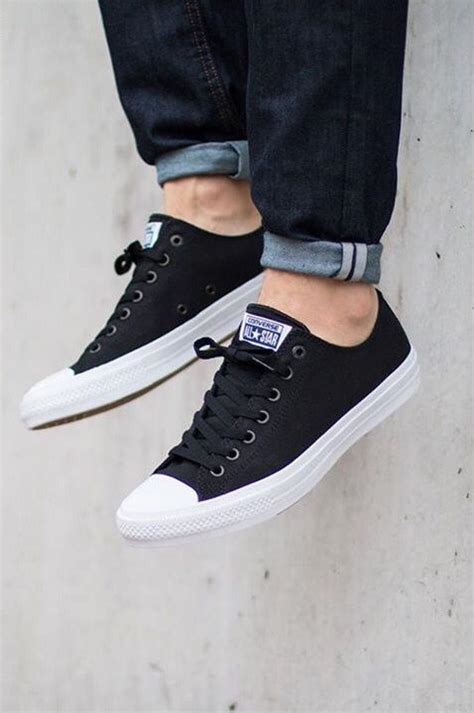 Sepatu Converse Grey Hi Unisex by Converse Chuck All Ii Ox Black Sneakers