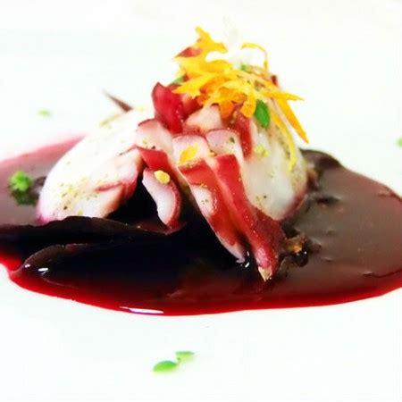 ricette alta cucina pesce carpaccio di polpo in salsa rossa fresco pesce