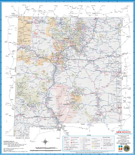 road map of nm map of new mexico new mexico maps mapsof net