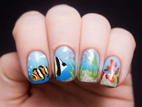 aquarium design nail art chalkboard nails ocean scene nail art view post for