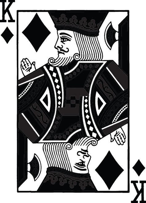 card blank template king of diamonds custom printed card back printbymagic we