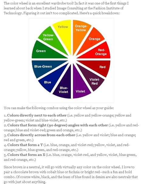 fashion color wheel fashion color wheel for all you gents wanting to