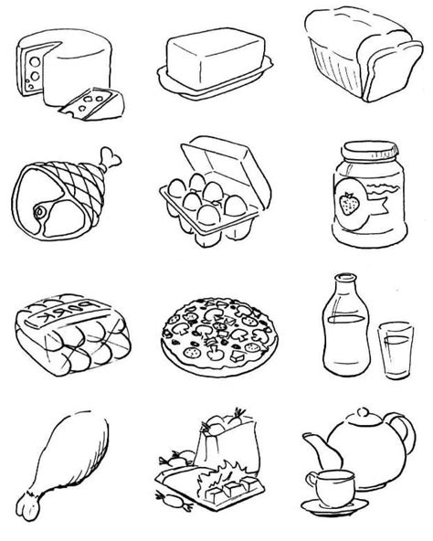 what is food coloring coloring pictures of healthy and unhealthy foods