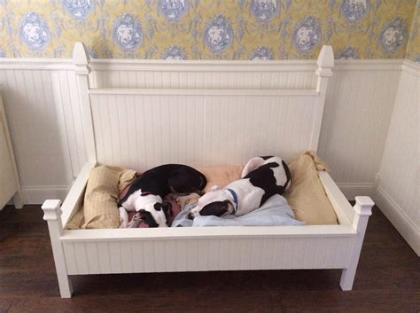 bed with built in dog bed four poster dog bed built to hold a baby crib mattress