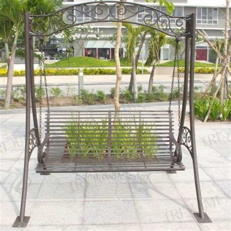 metal porch swing stand wrought iron and ceramic mosaic products for garden triquimex