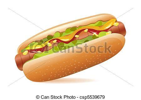 imagenes de un hot dog eps vectores de hot dog ilustraci 243 n de yummy hot dog