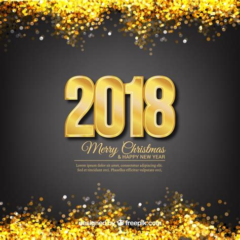 new year background free vector new year background with golden glitter vector free