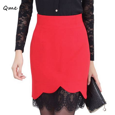 lace skirts womens pencil skirt plus size saias femininas renda work wear faldas 2016 black