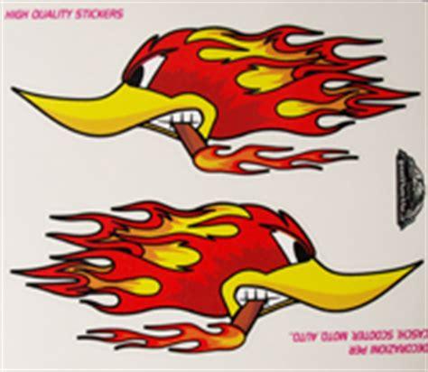 Racing Duck Aufkleber by Sticker Motiv Burning Duck 14 Cm X 16 Cm In