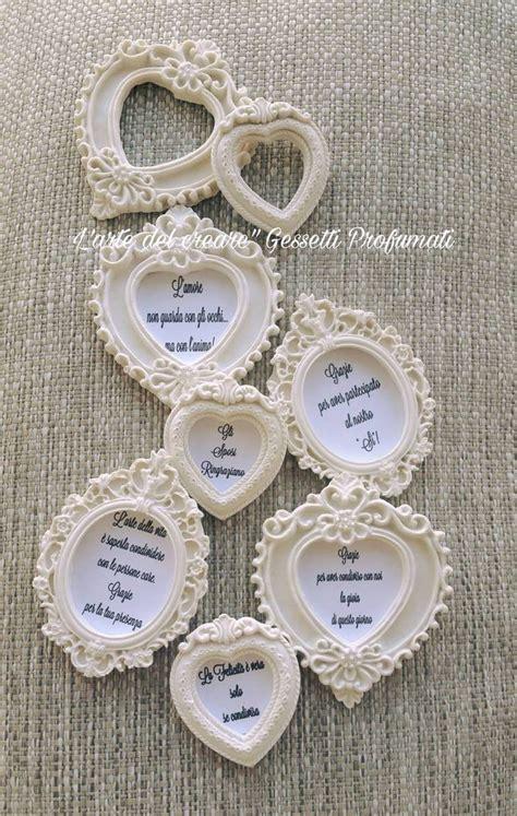 cornici per matrimonio gessetti profumati cuore cornice cornici segnaposto