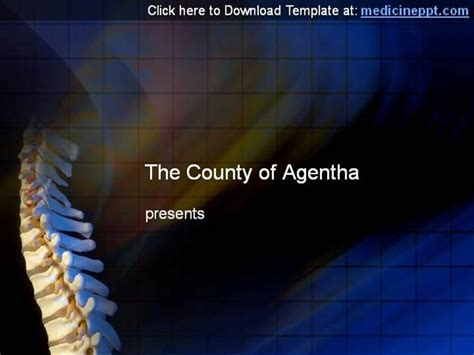 powerpoint templates free nervous system spinal cord ppt template for powerpoint presentation