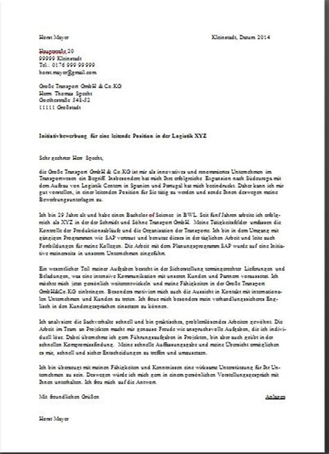 Official Letter In German Sle German Cover Letter Joblers