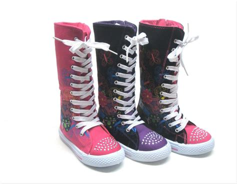new mid calf high top canvas boots tennis shoe size 10 4 ebay