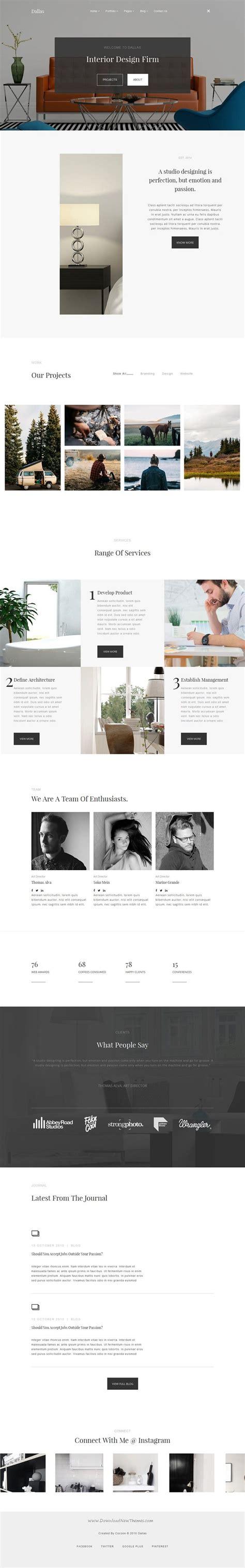 portfolio joomla template dallas minimalistic agency portfolio photography