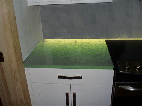 glowing glass countertops custom