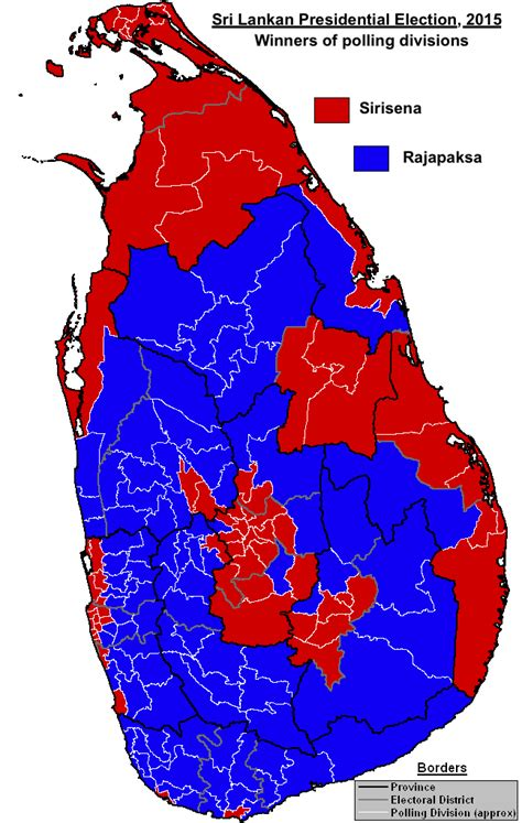 us election results 2015 map file sri lankan presidential election 2015 png