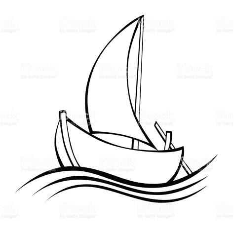 boat drawing black and white drawn sailing boat abstract pencil and in color drawn
