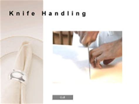 knife handling safety culinary software services product description for silver