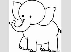 Elephant clipart coloring - Pencil and in color elephant ... Elephant Printable Clipart