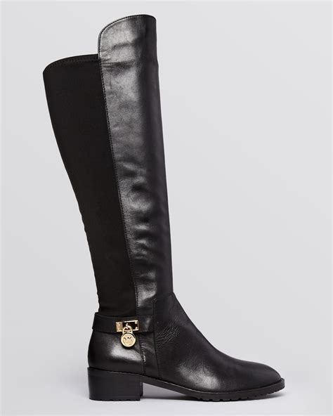 stretch boots michael michael kors stretch boots hamilton in black lyst