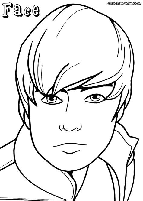 face coloring pages coloring pages to download and print