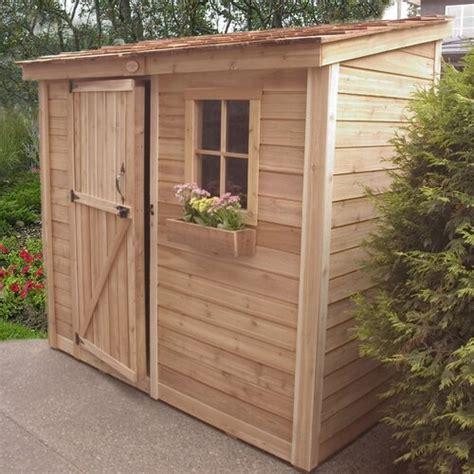spacesaver  ft    ft  wood lean  shed wayfair