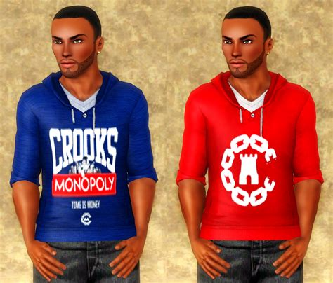 sims 3 urban clothes my sims 3 blog crooks castles hoodies tees by sojourn98