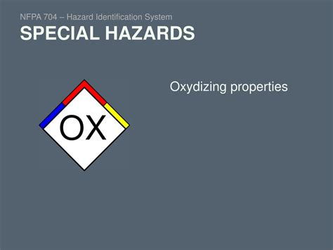 blue section of the nfpa 704 diamond ppt nfpa 704 hazard identification system introduction