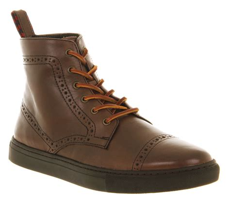 mens brown leather brogue boots mens ralph jarrod cap toe brogue boot brown