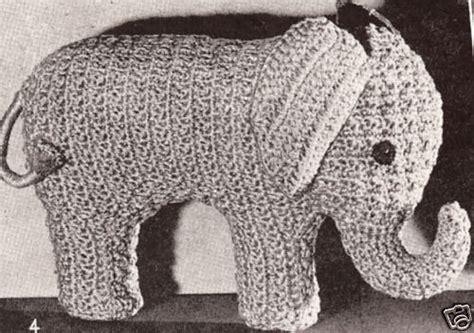 vintage elephant pattern vintage crochet pattern to make elephant stuffed animal