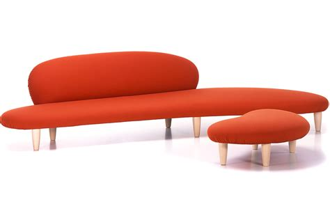love seat and ottoman noguchi freeform sofa and ottoman hivemodern com