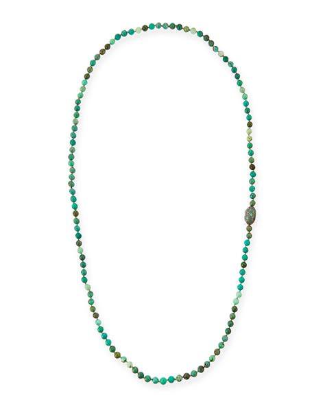 green opal necklace lyst siena jewelry green moss opal necklace with