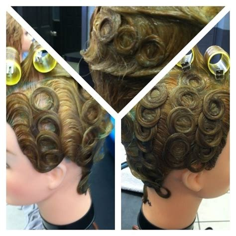 finger wave and roller set cosmetology empirebeautyschool 25 best pin curls and finger waves images on pinterest