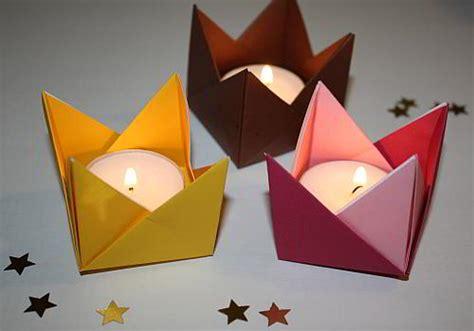 kerzenhalter in sternform falten anleitung f 252 r origami teelichthalter