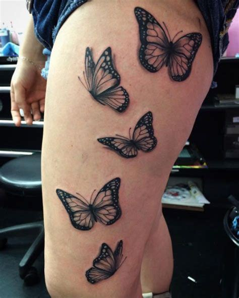 butterfly tattoos on thigh 28 beautiful black and grey butterfly tattoos tattoos