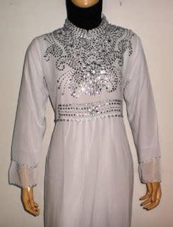 Gamis Wanita Warna Putih grosir baju muslim murah tanah abang gamis pesta warna putih gp036