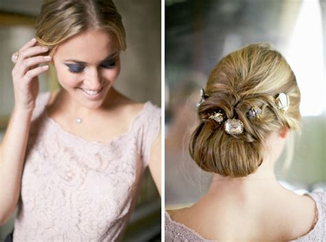 Vintage Bridal Updos by Unique Bridal Updo With Vintage Jewels Onewed